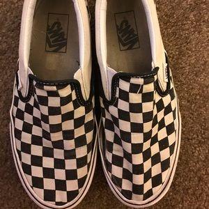 Vans checkered platform